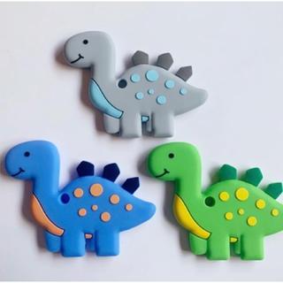 シリコン恐竜歯固め、三種類から選べる歯固め(がらがら/ラトル)