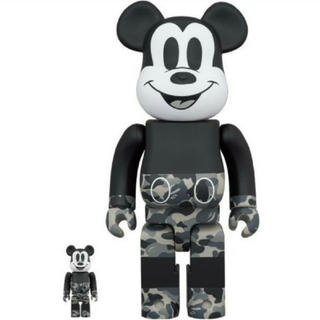 メディコムトイ(MEDICOM TOY)のBE@RBRICK BAPE MICKEY MOUSE 100%&400%(その他)