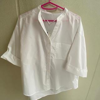 ジーユー(GU)のGU ワイドスリーブシャツ(シャツ/ブラウス(半袖/袖なし))