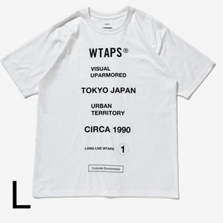 ダブルタップス(W)taps)のL WTAPS CIRCA Tシャツ TEE WHITE T-SHIRT 白(Tシャツ/カットソー(半袖/袖なし))