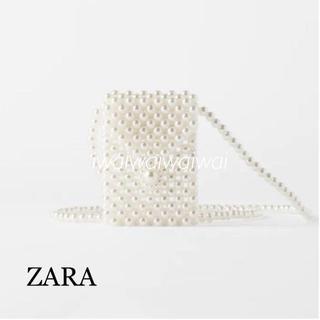 ZARA - 新品 完売品 ZARA パールビーズ ミニ クロス ボディ バッグ ポーチ