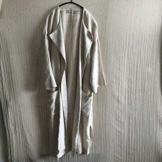 ムジルシリョウヒン(MUJI (無印良品))の🌱秋服無印良品の洗いざらしリネンガウンコート ロング (ロングコート)