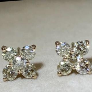 ジュエリーマキ(ジュエリーマキ)のk18 0.5ctダイヤモンドピアス(ピアス)