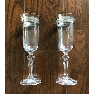パリ購入 アンティーク ワイングラス ペア(グラス/カップ)