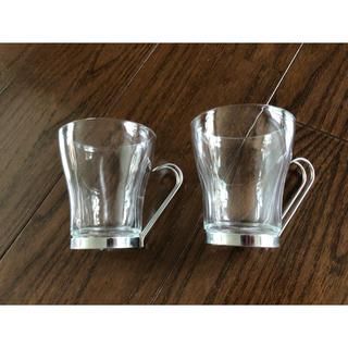 イタリア購入 アンティーク マグカップグラス2way ペア2個セット(グラス/カップ)