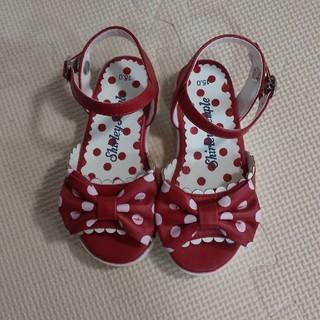 シャーリーテンプル(Shirley Temple)の赤ドット靴 15センチ(サンダル)