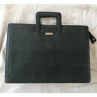 バーバリー(BURBERRY)のBurberry ビジネスバッグ 革製 ビンテージ グリーン色(ビジネスバッグ)