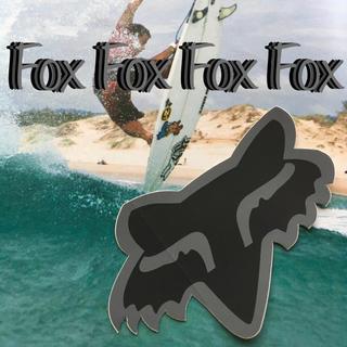 クイックシルバー(QUIKSILVER)のFOXフォックス US限定型抜き マット アイコン ステッカー ラスト1(サーフィン)