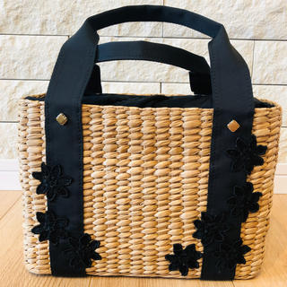 TOCCA - TOCCA トッカ LACE WICKER TOTE かごバッグ 黒