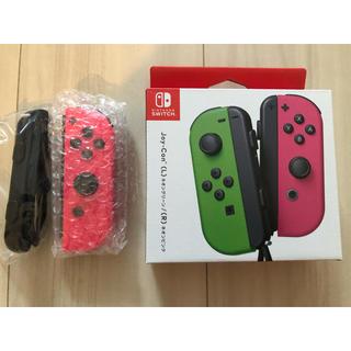 ニンテンドースイッチ(Nintendo Switch)の保証あり 新品未使用 switch Joy-Con ネオンピンク(R) 右 (その他)