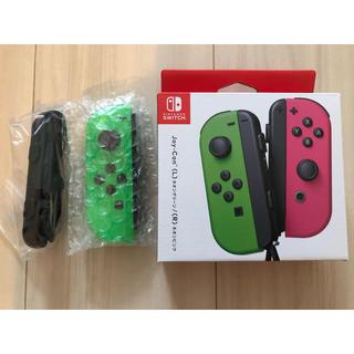 ニンテンドースイッチ(Nintendo Switch)の保証あり 新品未使用 switch Joy-Con ネオングリーン(L) 左 緑(家庭用ゲーム機本体)