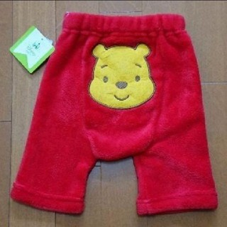 ディズニー(Disney)の新品・未使用・タグ付き Disney モコモコ ハーフ パンツ Pooh 赤(パンツ)