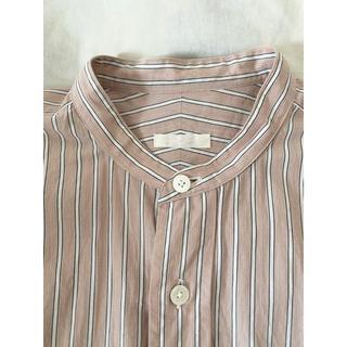 コモリ(COMOLI)の美品!!comoli コモリ バンドカラーシャツ size0(シャツ/ブラウス(長袖/七分))