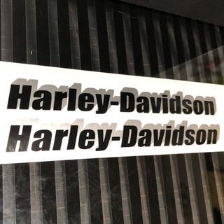 ハーレーダビッドソン(Harley Davidson)のハーレーダビッドソン  ステッカー 二枚 バイク オートバイ(ステッカー)