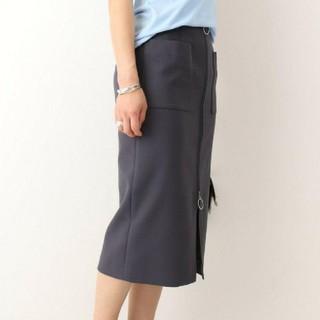 ノーブル(Noble)の専用【NOBLE】T/Cダブルクロスフープジップタイトスカート グレー 40(ひざ丈スカート)