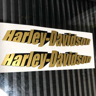 ハーレーダビッドソン(Harley Davidson)のハーレーダビッドソン  ステッカー 大二枚 バイク オートバイ(ステッカー)