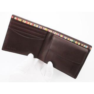 ポールスミス(Paul Smith)の1点限り☆未使用品箱なし ポールスミス オールドレザー 二つ折り財布 濃茶(折り財布)