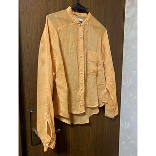 ブランバスク(blanc basque)の【BLANC】透け感 薄オレンジ ダブっとしたブラウス(シャツ/ブラウス(長袖/七分))