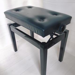 【送料無料J】ピアノ椅子 電子さピアノ チェアー 台 黒 高さ調整  (電子ピアノ)