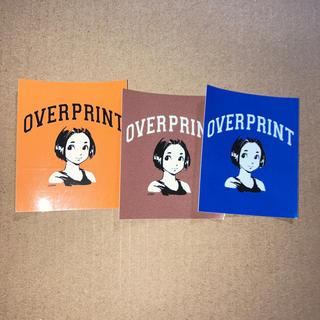 over print 9090's ステッカー 3枚セット(その他)
