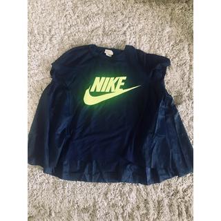 サカイ(sacai)のNIKELAB × SACAI バックケープTシャツL ナイキ サカイ ネイビ (Tシャツ(半袖/袖なし))