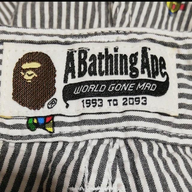 A BATHING APE(アベイシングエイプ)のA Bathing Apeアベイシングエイプ シアサッカー ショーツ メンズのパンツ(ショートパンツ)の商品写真