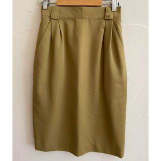 アイグナー(AIGNER)のAIGNER アイグナー スカート ベージュ サイズ40(ひざ丈スカート)