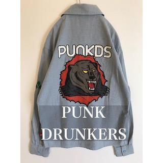パンクドランカーズ(PUNK DRUNKERS)のPUNK DRUNKERS パンクドランカーズ 長袖シャツ デカプリント S(シャツ)