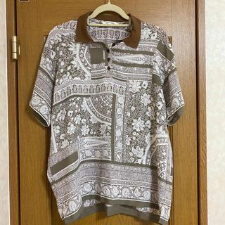 vintage bandanna pattern polo shirt(ポロシャツ)