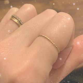 イーエム(e.m.)の日曜日までお値下げ♡美品♡e.m♡ツートンリング♡9号(リング(指輪))