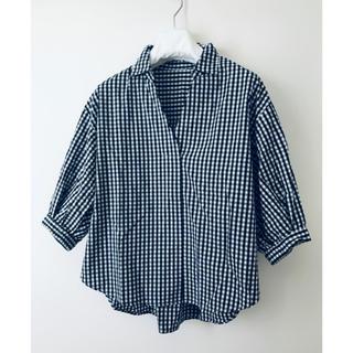 ヴィス(ViS)の専用 立体シェイプ♡ フェミニン チェックシャツ(シャツ/ブラウス(半袖/袖なし))