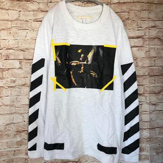 オフホワイト(OFF-WHITE)のOff-White オフホワイト ストライプ 長袖 ロンT L(Tシャツ/カットソー(七分/長袖))