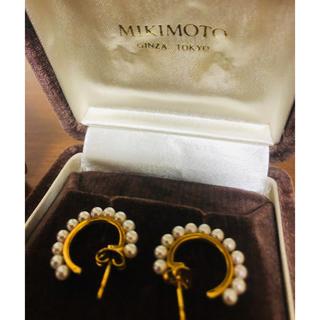 ミキモト(MIKIMOTO)の極美品 ミキモト パール フープピアス 希少 18KYG(ピアス)