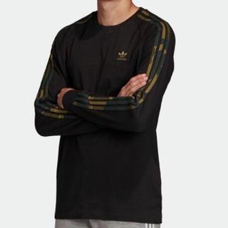 アディダス(adidas)の【新品】アディダスオリジナルス 長袖Tシャツ サイズL カモフラージュ ブラック(Tシャツ/カットソー(七分/長袖))