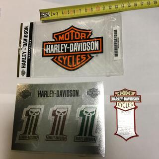 ハーレーダビッドソン(Harley Davidson)のハーレーダビッドソン  ステッカー デカール 3枚(ステッカー)