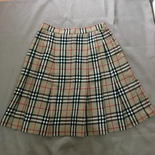 バーバリー(BURBERRY)の定番★バーバリーロンドン スカート ベージュ ノバチェック柄 160A(スカート)