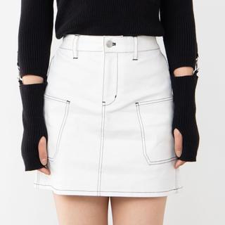 WEGO - ステッチサイドポケットミニスカート