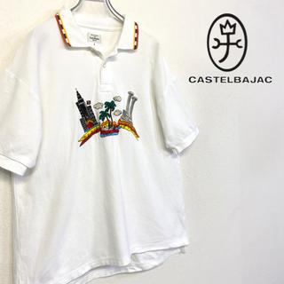 カステルバジャック(CASTELBAJAC)の美品 CASTEL BAJAC ポロシャツ メンズL(ポロシャツ)