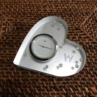 ウェッジウッド(WEDGWOOD)の【ウェッジウッド WEDGWOOD】ブリスタイムクロック(ハート型の置気時計)(置時計)
