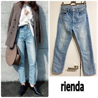 rienda - rienda Straight Line ストレッチJ/L DENIM PT