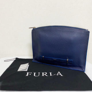 フルラ(Furla)の【廃盤】FURLA ジョーヴェ クラッチ メンズ ネイビー バッグ 美品(セカンドバッグ/クラッチバッグ)