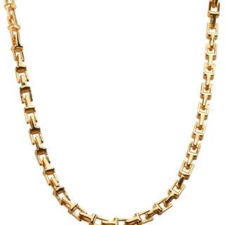 ティファニー(Tiffany & Co.)のTチェーン ネックレス 金(ネックレス)