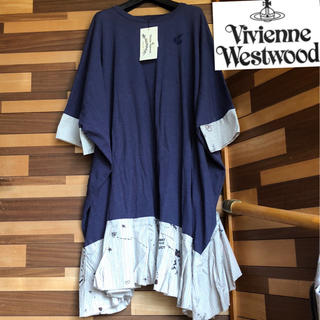 ヴィヴィアンウエストウッド(Vivienne Westwood)の❤️新品未使用❤️ Vivianne Westwood ワンピース big 紺(ロングワンピース/マキシワンピース)