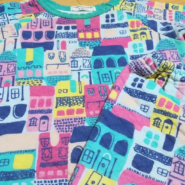 ampersand(アンパサンド)のAmpersand 冬パジャマ キッズ/ベビー/マタニティのベビー服(~85cm)(パジャマ)の商品写真
