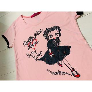 ドーリーガールバイアナスイ(DOLLY GIRL BY ANNA SUI)のドーリーガールby ANNA SUI ×ベディちゃん 可愛いTシャツ ピンク (Tシャツ(半袖/袖なし))