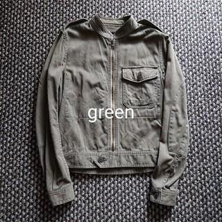 ハイク(HYKE)の希少 green/HYKE ミリタリー ライダースジャケット ビンテージ(ミリタリージャケット)