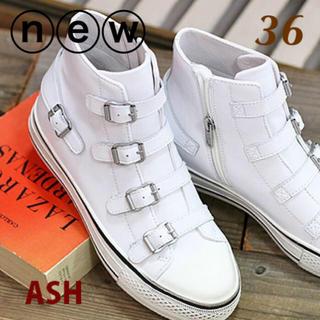 ASH - 新作✱超美品定2.4万✱ASH アッシュ 36✱レザー インヒール スニーカー