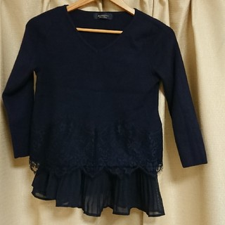 ジャスグリッティー(JUSGLITTY)の美品 JUSGLITTY 裾レースニット(ニット/セーター)