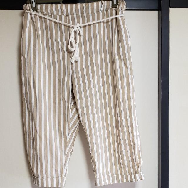 tutuanna(チュチュアンナ)のストライプ柄7分丈パンツ レディースのルームウェア/パジャマ(ルームウェア)の商品写真