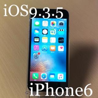 アイフォーン(iPhone)のiPhone6 SpaceGray 16GB Softbank 本体 動作品(スマートフォン本体)